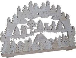 SchwibboLa 3-106 świecznik z Rudaw podwójny podświetlany łuk z certyfikatem 3-106, 70 x 42 cm