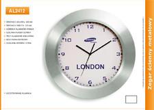 Zegar reklamowy aluminiowy wide /300mm