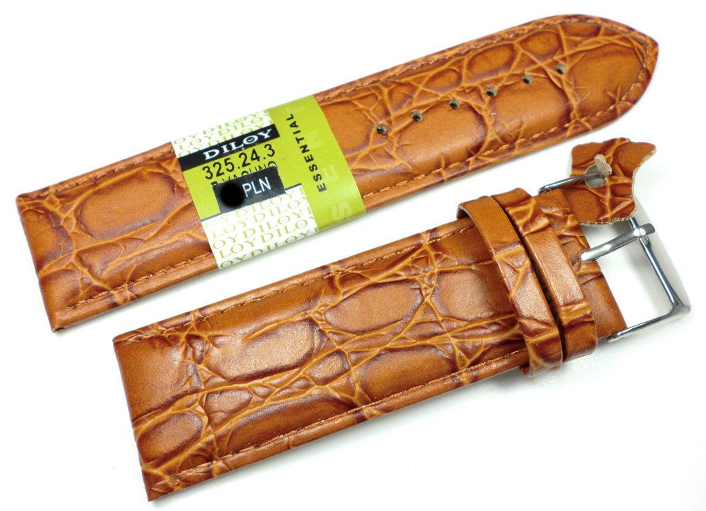Skórzany pasek do zegarka 24 mm Diloy 325.24.3