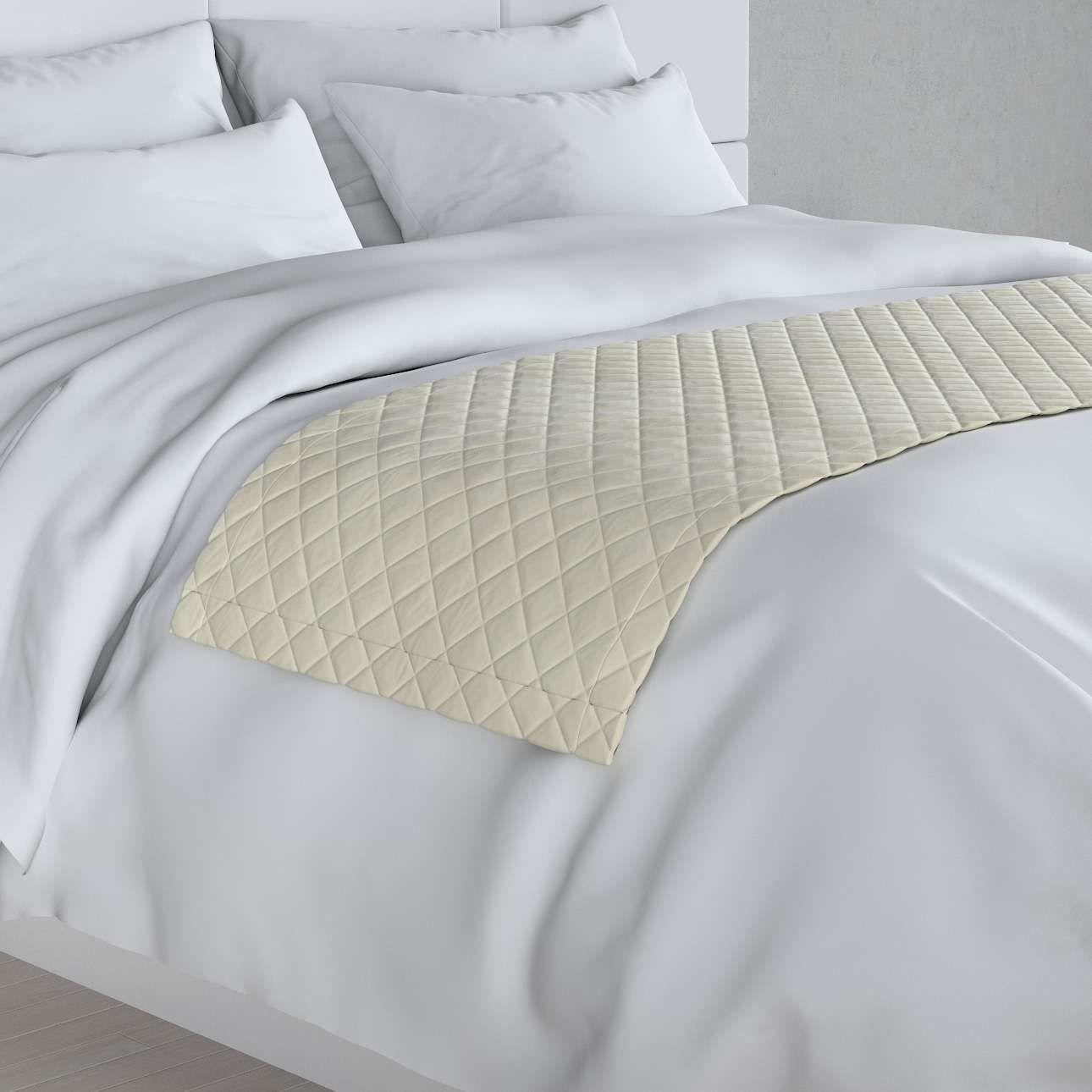 Narzuta hotelowa bieżnik Velvet 60x200cm, śmietankowa biel, 60 x 200 cm, Velvet