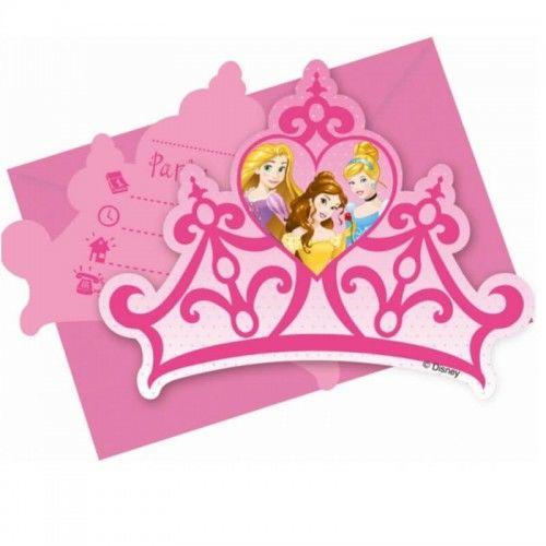 Zaproszenia Disney Princess, 6 szt.