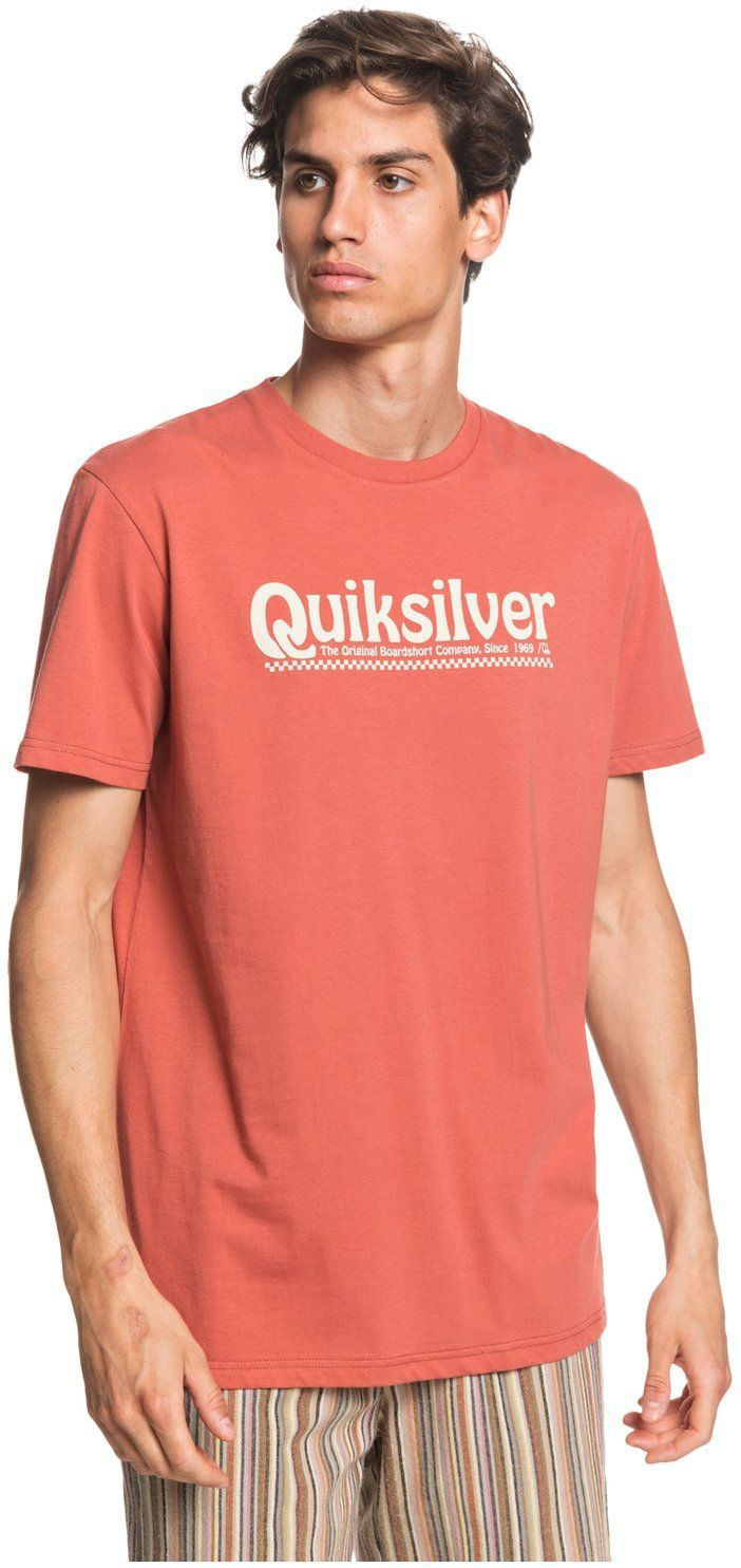 t-shirt męski QUIKSILVER NEW SLANG TEE Redwood - MNL0