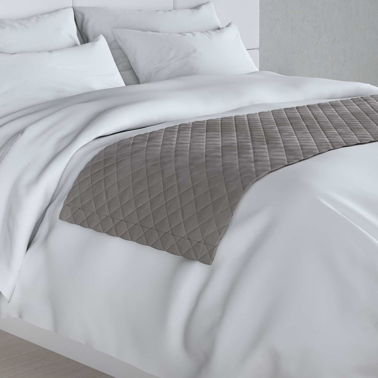 Narzuta hotelowa bieżnik Velvet 60x200cm, gołębi szary, 60 x 200 cm, Velvet