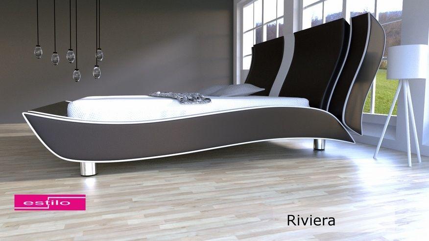 Łóżko do sypialni Riviera 200x200 - tkanina