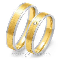 Obrączki ślubne Złoty Skorpion  wzór Au-OE86