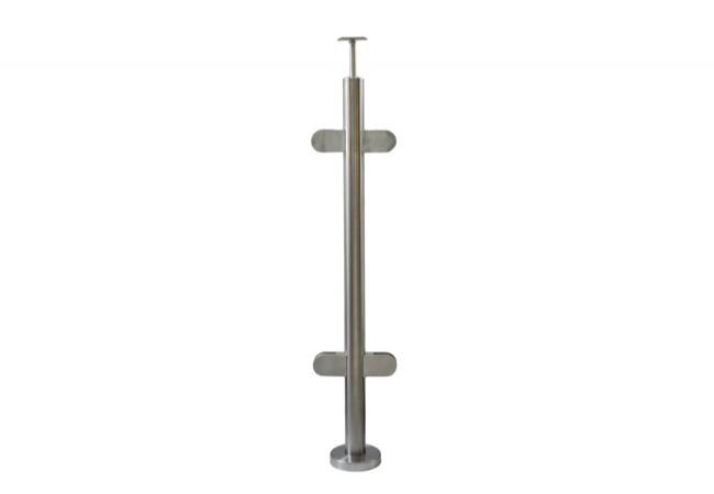 (39) Słupek schodowy z 4 uchwytami do balustrady szklanej, h=106cm, stal nierdzewna inox AISI304,środkowy