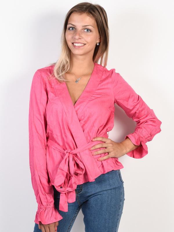 Billabong WRAPPED UP Sunset Pink koszulka damska z długimi rękawami - S