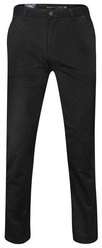 Czarne Garniturowe Męskie Spodnie -Tomy Walker- Zwężane, Chinosy, Eleganckie SPTWKRd200765czarne