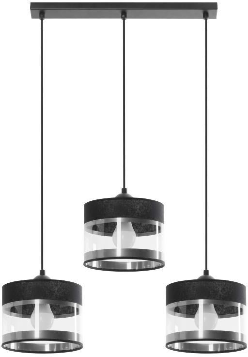 Lampex Leone 3L 854/3L lampa wisząca nowoczesna przeźroczyste klosze 3x40W E27 63cm