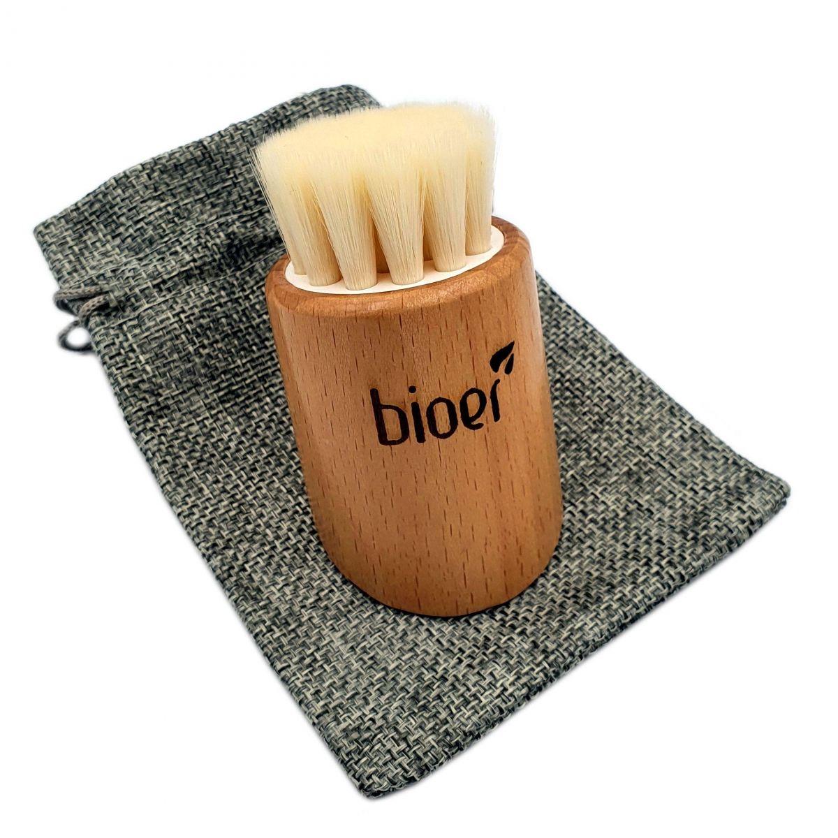 Szczotka do peelingu i głębokiego oczyszczania twarzy - włosie beżowe - Bioer