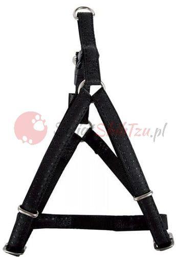 Zolux szelki regulowane Mac Leather 10mm czarne