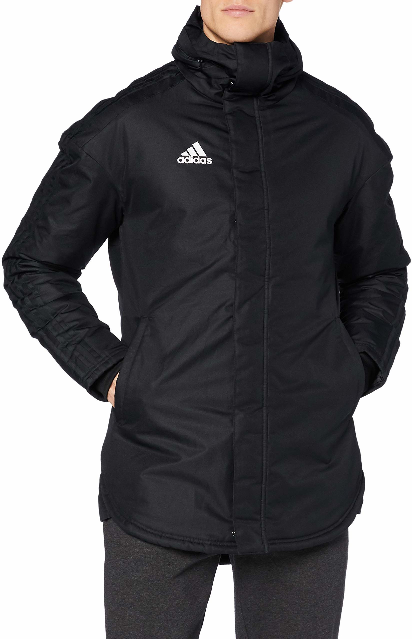 adidas Męska kurtka sportowa Jkt18 Std Parka czarny czarny/biały XS