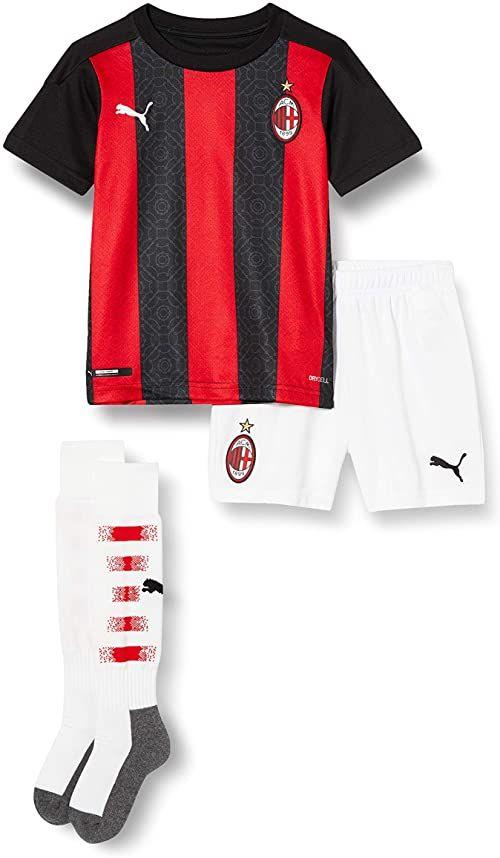PUMA Unisex Ac Milan 20/21 koszulka domowa dla dzieci czerwony Tango Red -Puma Black 116
