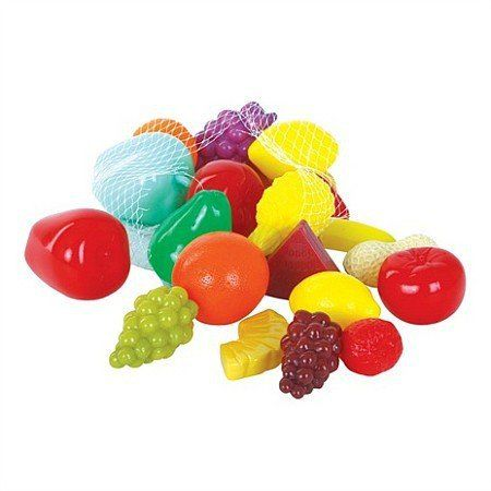 Zestaw owoców, 22 elementy, GW45601-Gowi, zabawa w gotowanie, zabawa w sklep