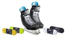 Sznurówki płaskie woskowane 305cm hokej sport
