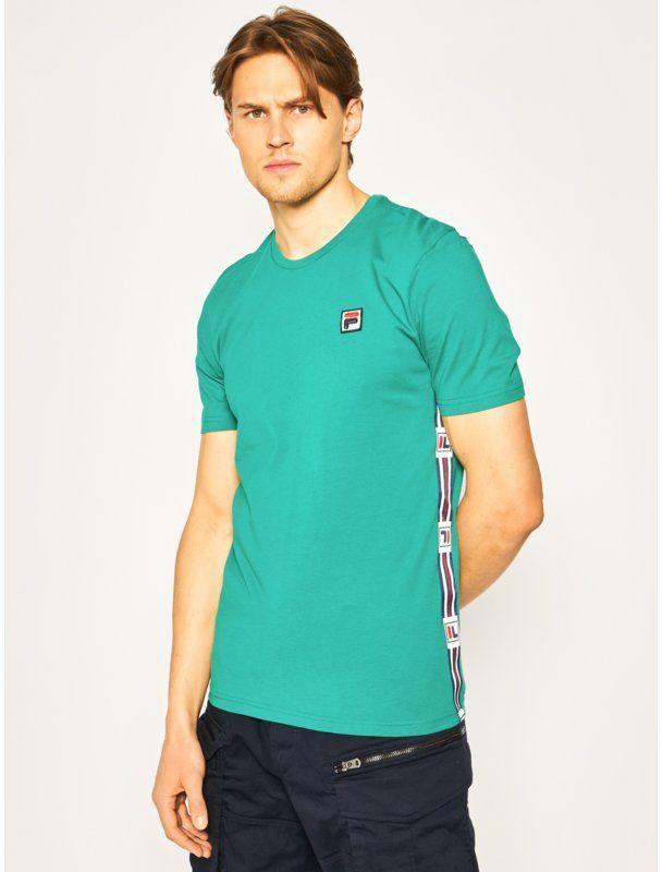 Fila T-Shirt Hades 687640 Zielony Regular Fit
