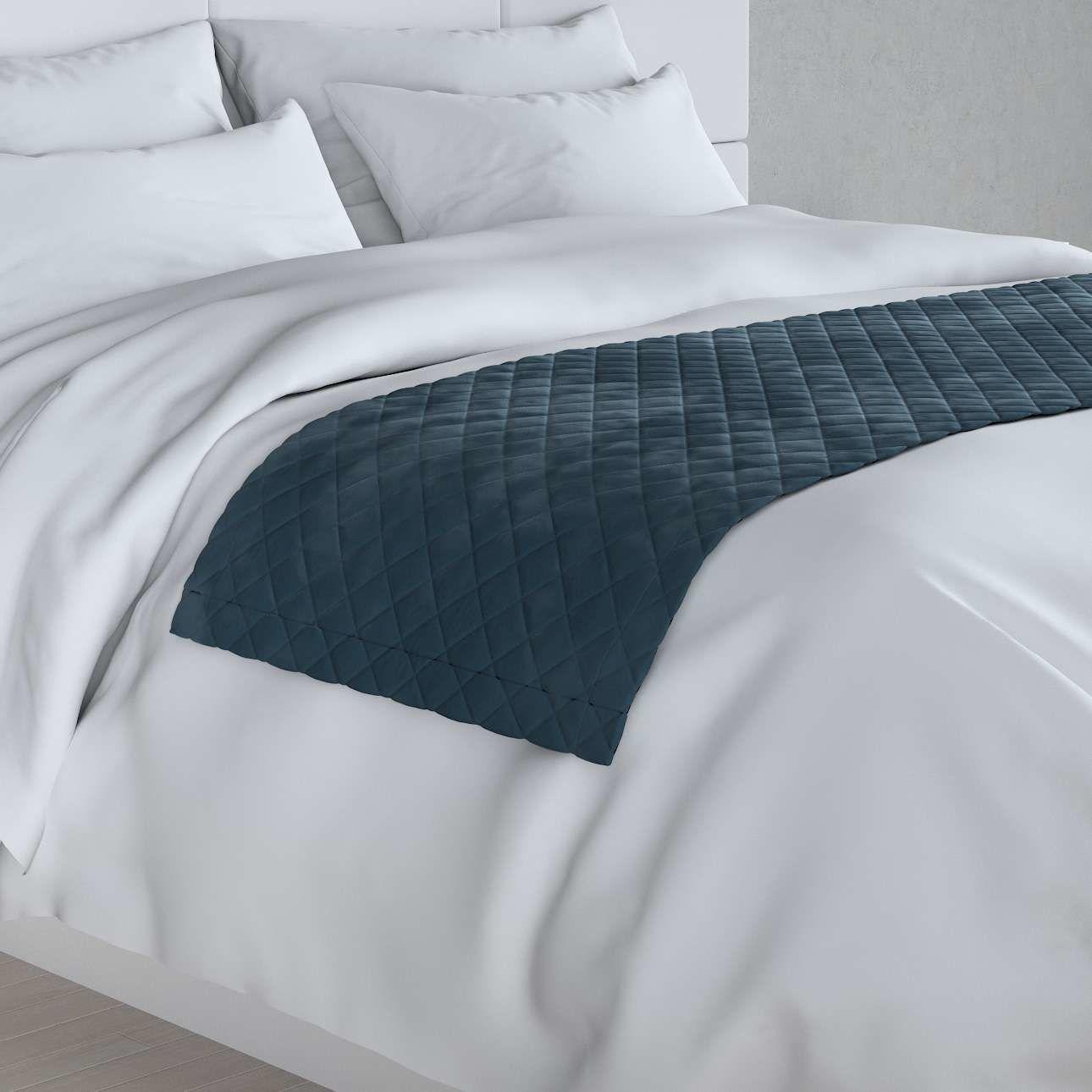 Narzuta hotelowa bieżnik Velvet 60x200cm, pruski błękit, 60 x 200 cm, Velvet