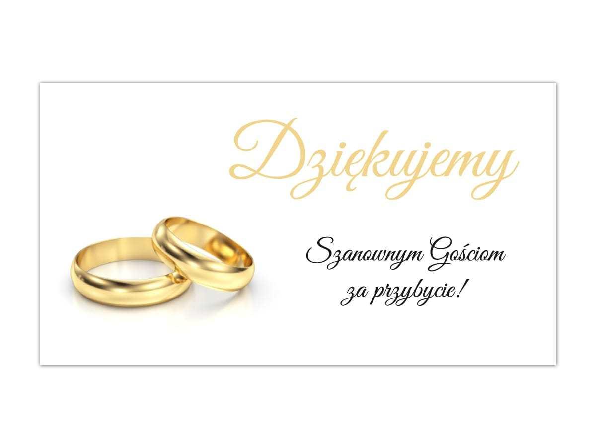Etykiety z podziękowaniem na wesele - 10 szt.