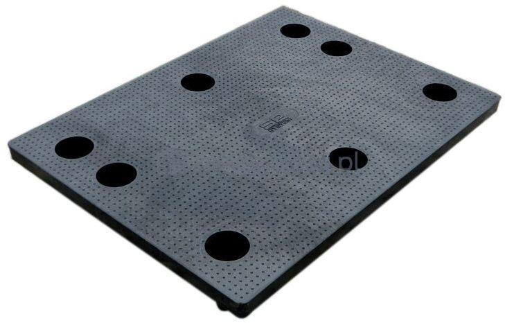 Paleta plastikowa 1/2 Euro 800x600 mm, powierzchnia antypoślizgowa (kolor czarny)