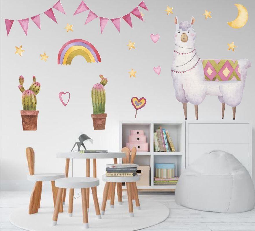 Lama -naklejka na ścianę