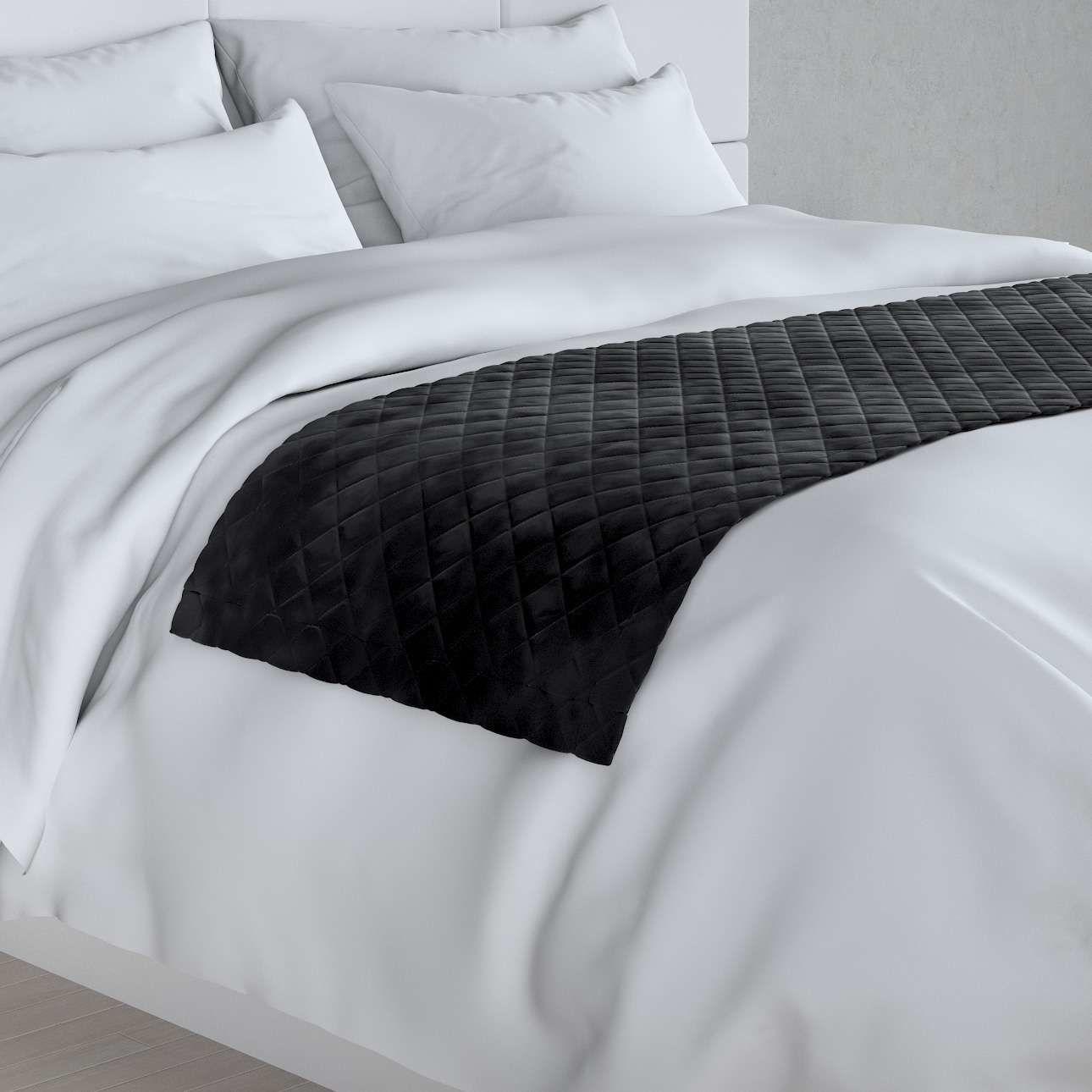 Narzuta hotelowa bieżnik Velvet 60x200cm, głęboka czerń, 60 x 200 cm, Velvet