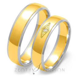 Obrączki ślubne Złoty Skorpion  wzór Au-OE118