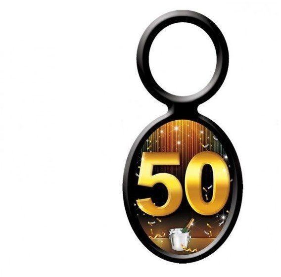 Zawieszki na butelki 50 urodziny 20szt EL203