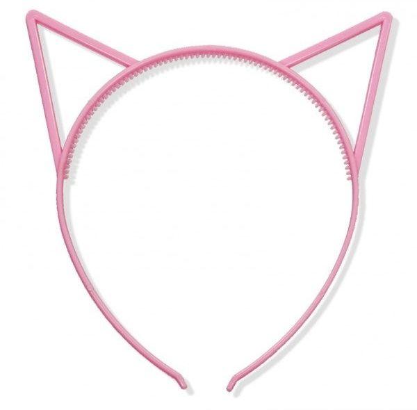 Opaska kotek różowa 1 sztuka K10R