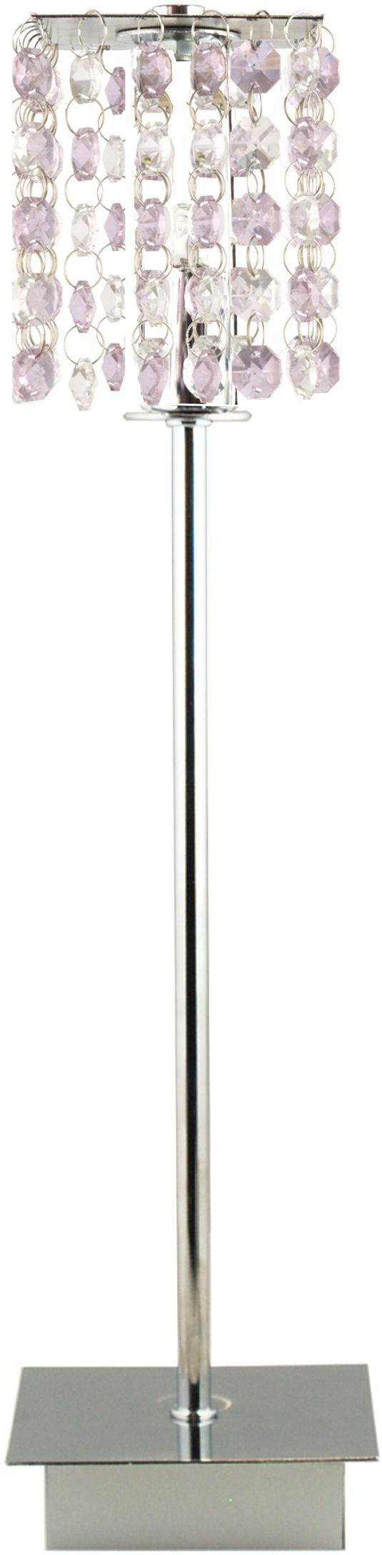 Candellux CLASSIC 41-59584 lampa stołowa kryształki metal fioletowa 1X40W G9 11 cm