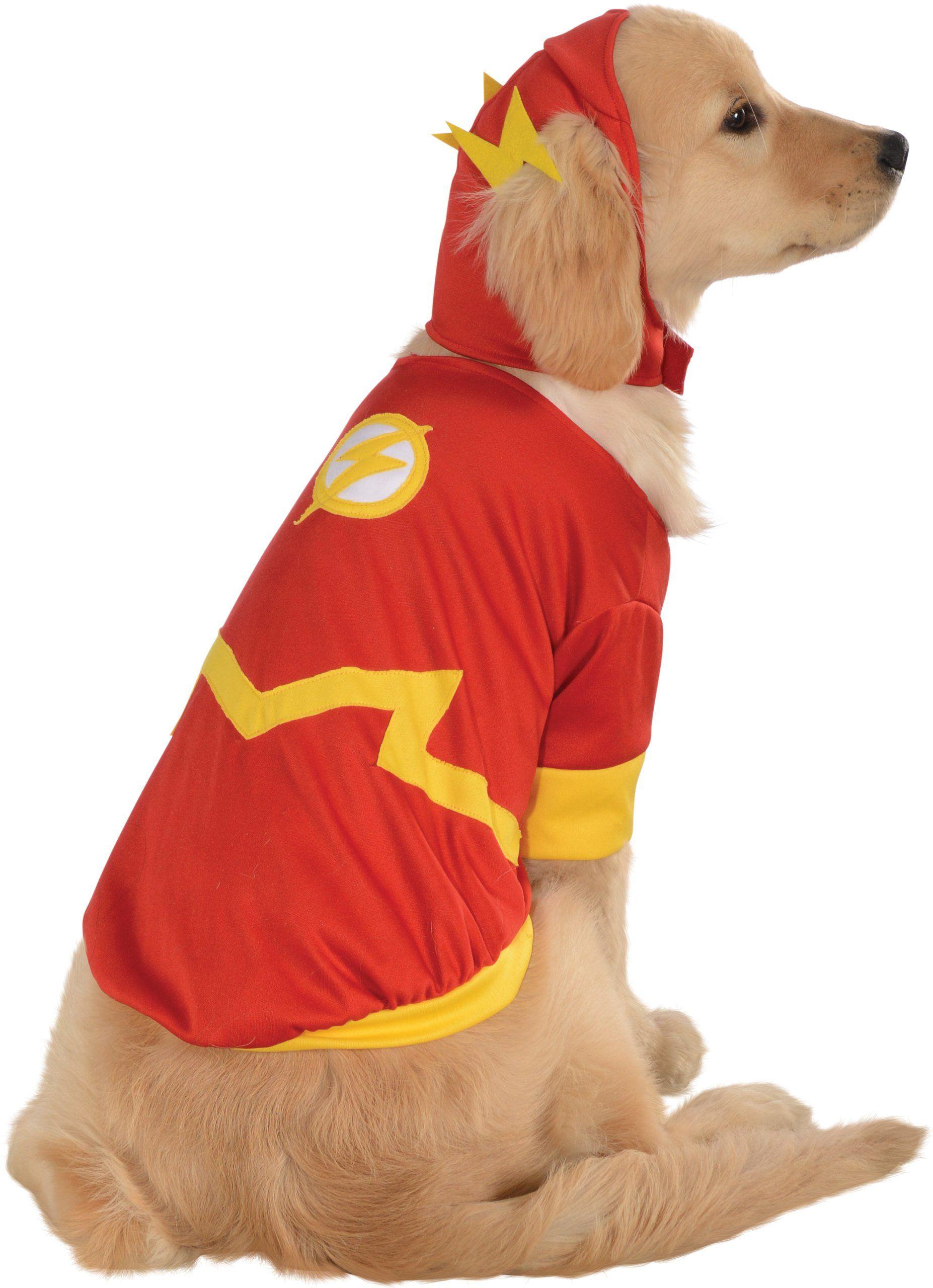 Oficjalny kostium Rubie''s DC komiksowy Flash zwierzę domowe pies kostium, prezent superbohater, rozmiar mały