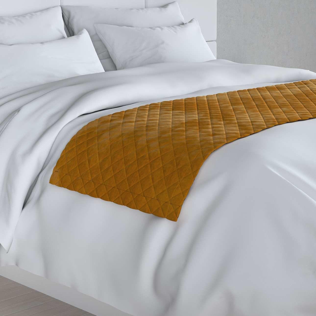 Narzuta hotelowa bieżnik Velvet 60x200cm, miodowy, 60 x 200 cm, Velvet