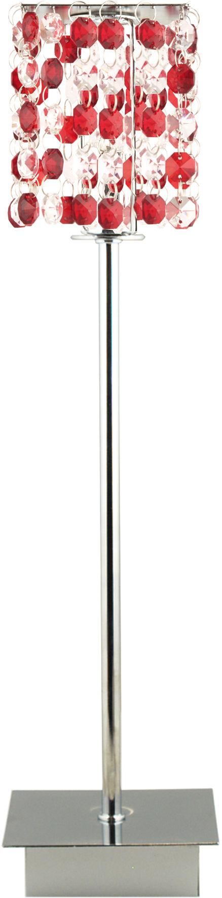 Candellux CLASSIC 41-60177 lampa stołowa kryształki czerwony 1X40W G9 11 cm