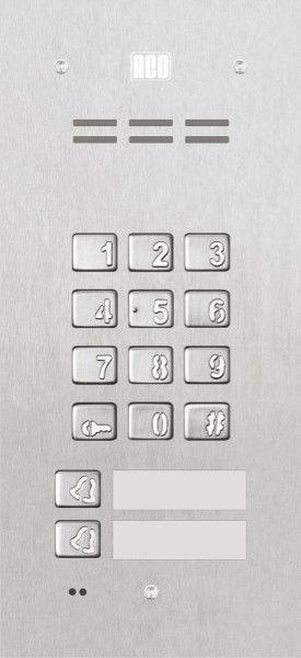 Domofon cyfrowy z zamkiem szyfrowym, czytnikiem breloków oraz 2 przyciskami FAM-P-2NPZSACC