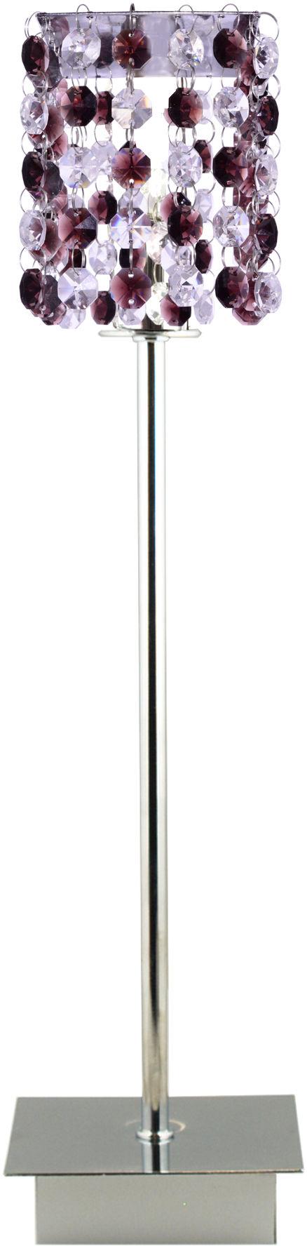 Candellux CLASSIC 41-97036 lampa stołowa kryształki burgund 1X40W G9 11 cm