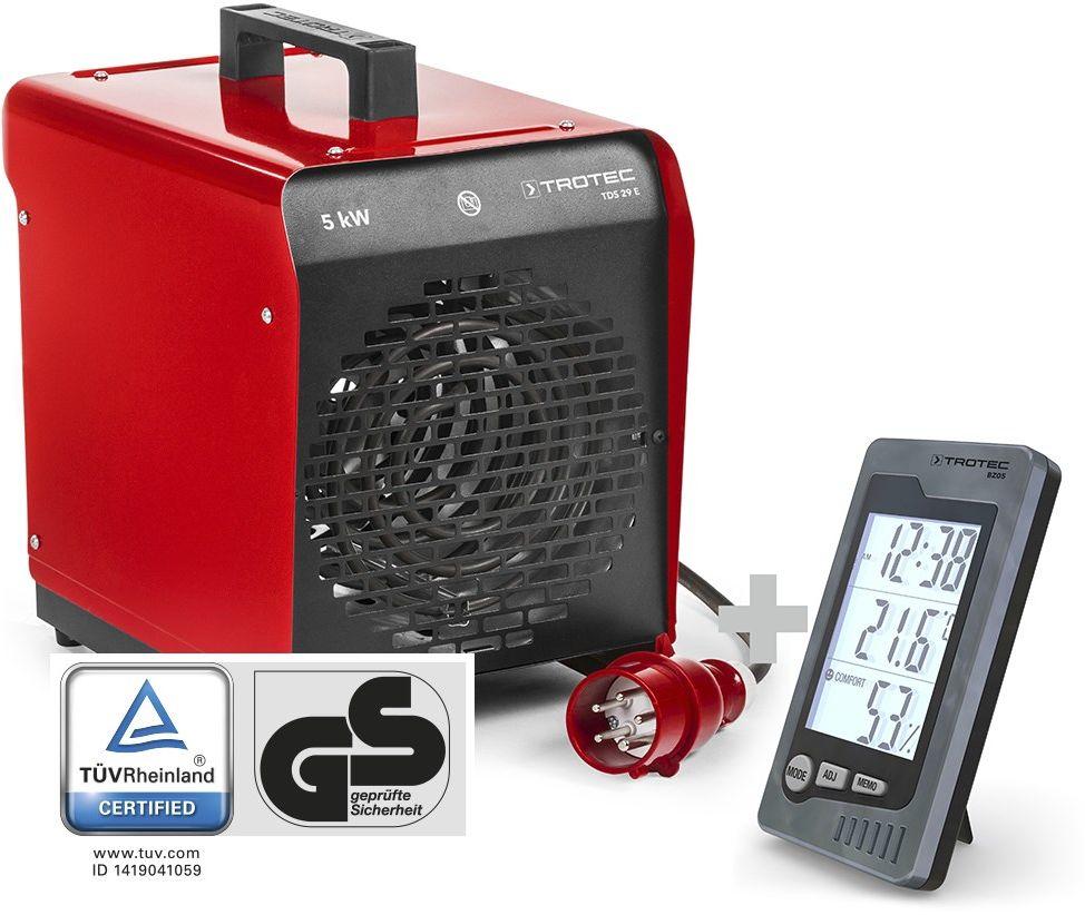 Nagrzewnica elektryczna nadmuchowa TDS 29 E + Termohigrometr BZ05
