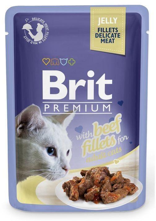 BRIT - Pouch adult wołowina kot saszetka 85g