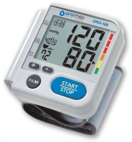 Ciśnieniomierz elektroniczny nadgarstkowy ORO-168
