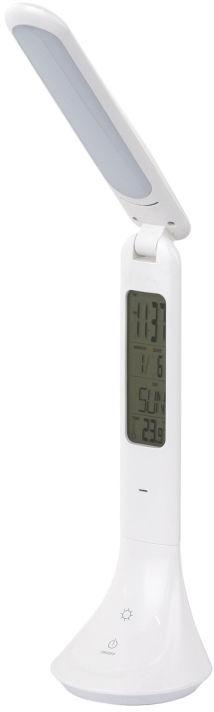 Globo TYRELL 58329W lampa stołowa biała budzik zegar termometr USB ściemniacz LED 4W 4000K 26cm