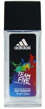 Adidas Team Five 75 ml dezodorant z atomizerem dla mężczyzn dezodorant z atomizerem + do każdego zamówienia upominek.