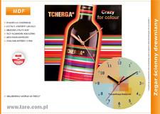 Zegar reklamowy na bazie MDF