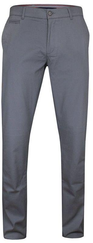Szare Casualowe Męskie Spodnie -RIGON- Zwężane, Bawełniane, Chinosy, w Drobny Wzór SPRGN22071529549gri