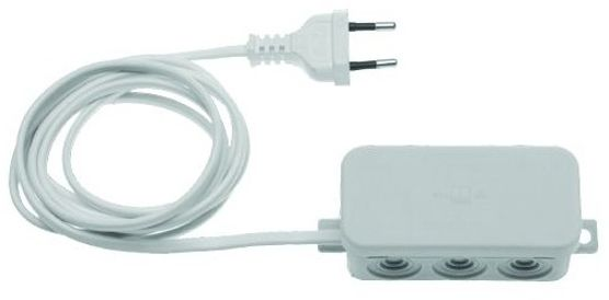 UNIWERSALNY odbiornik 2-kanałowy HES 2 868 MHz (zasilanie 230 V) pasuje do wszystkich urządzeń na rynku (funkcja włącz/wyłącz)