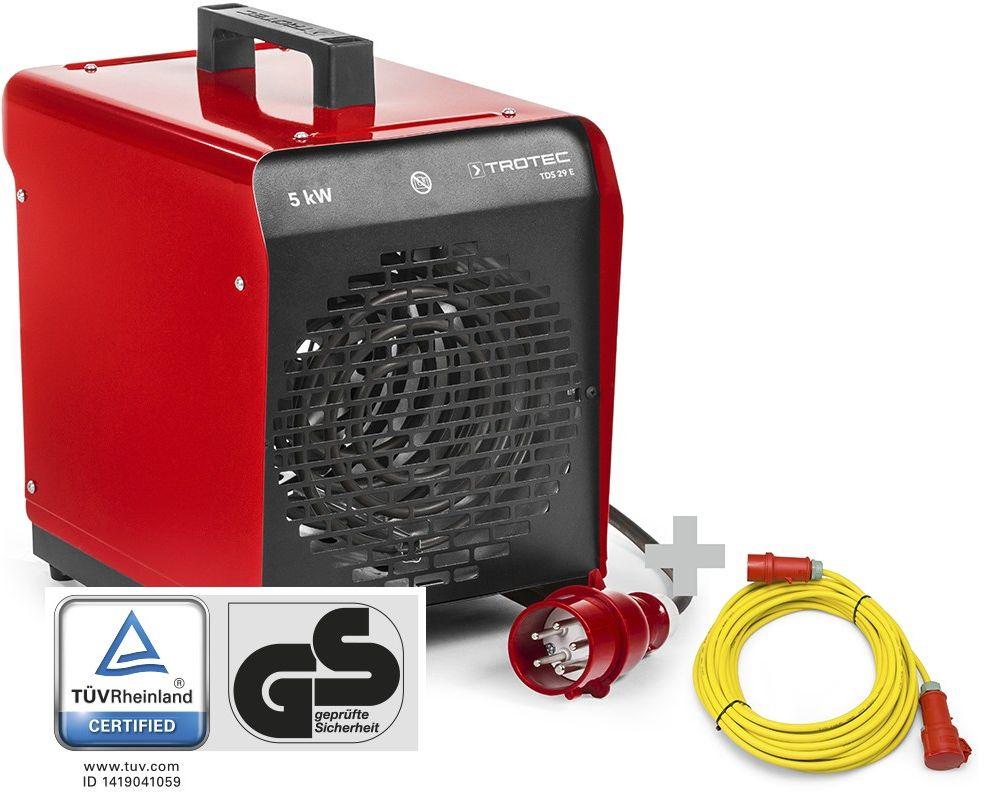 Nagrzewnica elektryczna nadmuchowa TDS 29 E + Przedłużacz Profi 20 m / 400 V / 2,5 mm