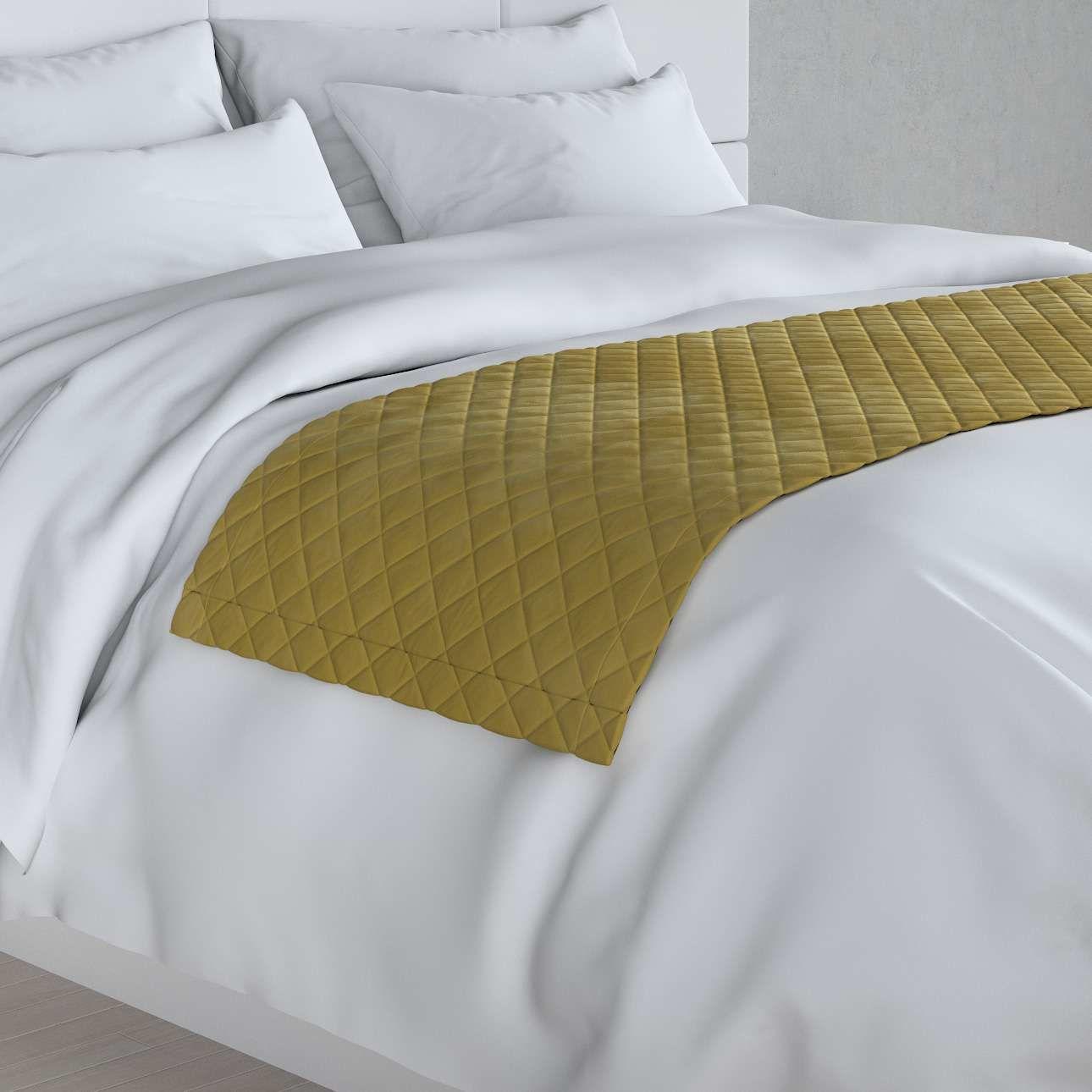 Narzuta hotelowa bieżnik Velvet 60x200cm, oliwkowy zielony, 60 x 200 cm, Velvet