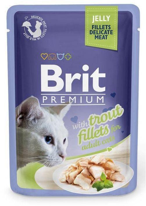 BRIT - Pouch adult pstrąg kot saszetka 85g