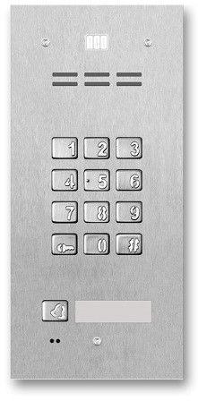 Domofon cyfrowy z zamkiem szyfrowym, czytnikiem breloków oraz 1 przyciskiem FAM-P-1NPZSACC