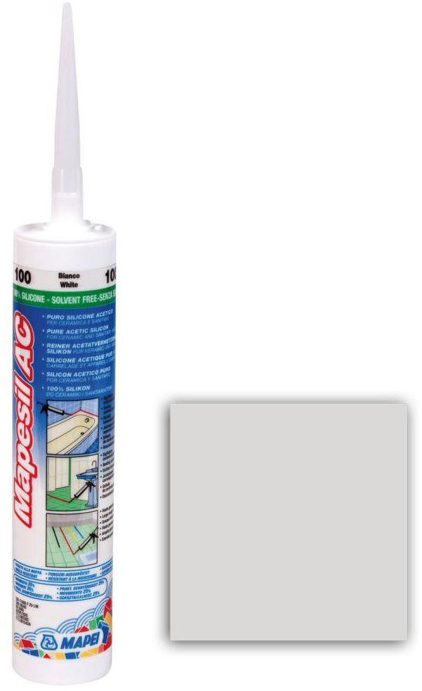Silikon sanitarny MAPESIL AC 103 310 ml Pył księżycowy MAPEI