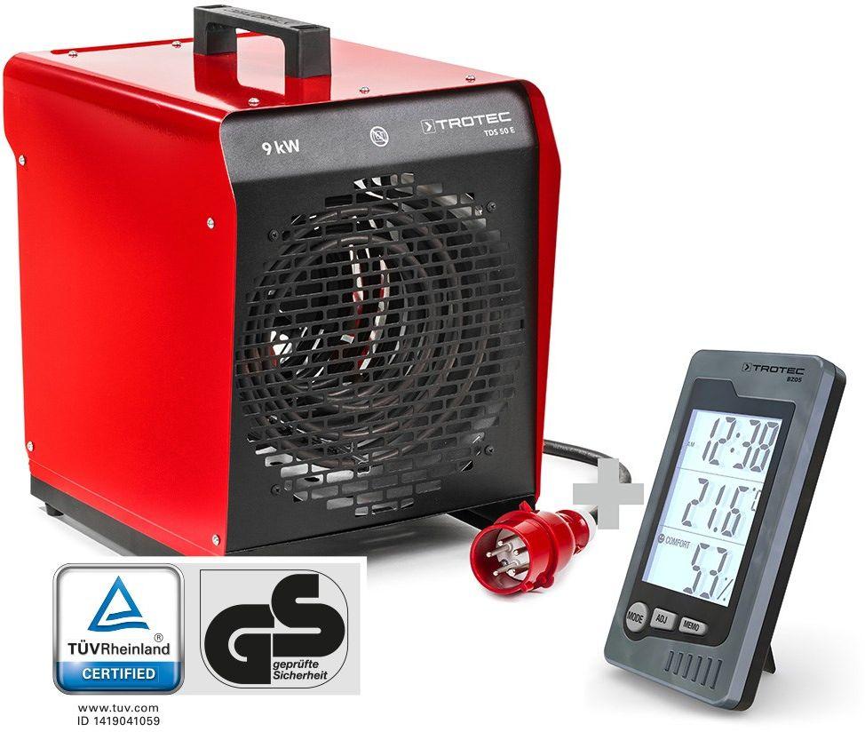 Nagrzewnica elektryczna nadmuchowa TDS 50 E + Termohigrometr BZ05
