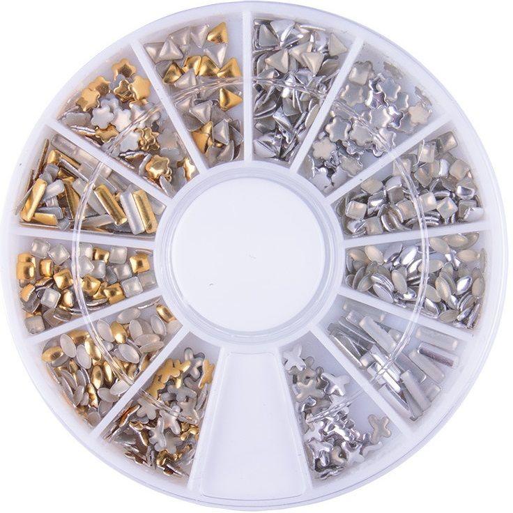 KARUZELA Cyrkonie złoto srebrne Kryształki wzór 19