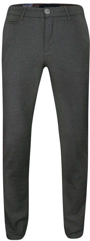 Szare Casualowe Męskie Spodnie -RIGON- Zwężane, Bawełniane, Chinosy, w Drobny Wzór SPRGN2202282kgri